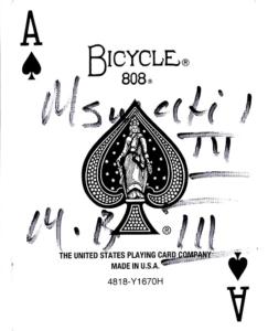 Carte du Roi Mswati 3 magicien Lyon mentaliste